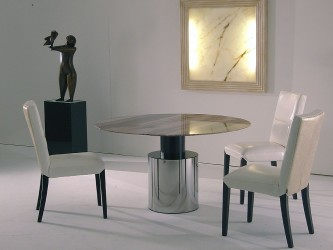 Athena Round Marble Collection